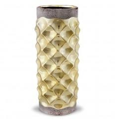 Keramikas vāze pelēks/zelts