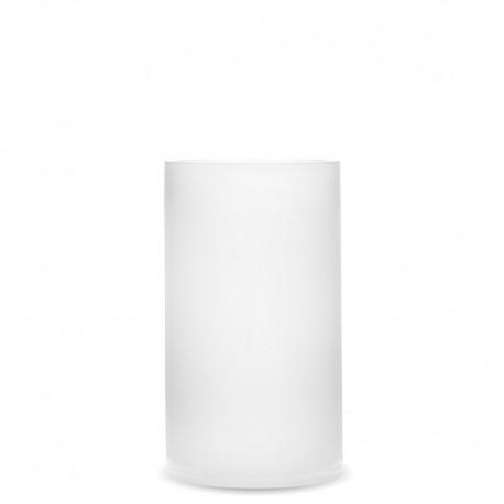 Stikla vāze balta