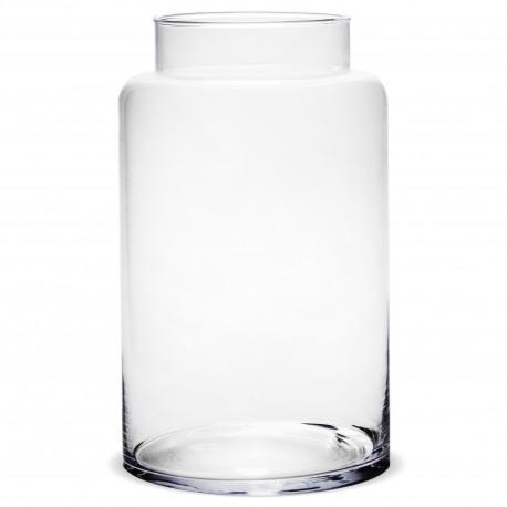 Stikla vāze burkas formā 30*17.5*17.5