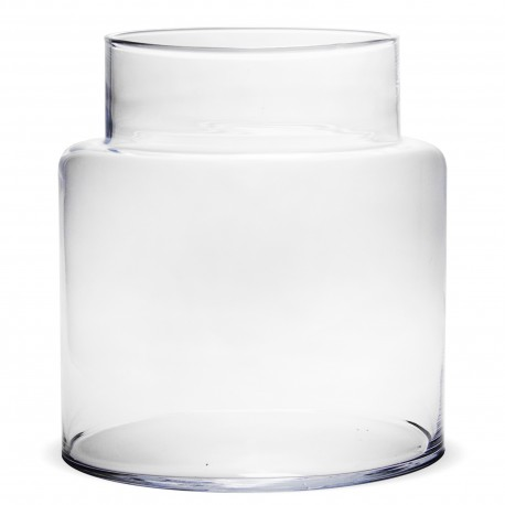 Stikla vāze burkas formā 19.5*16.5*16.5