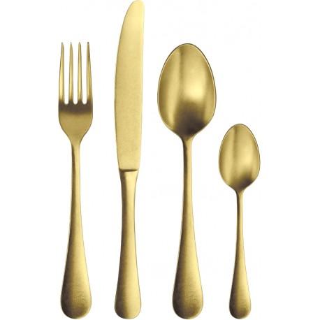 Pusdienu dakša zelta krāsā