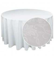Round white tablecloth d-2.8m