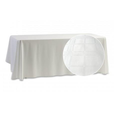 Balts kokvilnas galdauts 1.45*1.35m