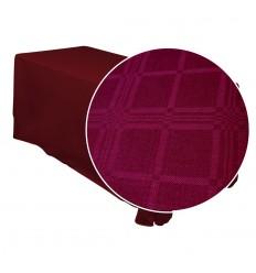 Burgundy tablecloth1.50*1.35m