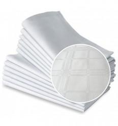 Balta auduma salvete ar rakstu 40*40mm