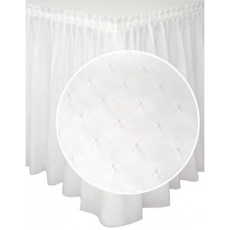 Balti galda svārki ar zvaigznītes dekoru 200*73