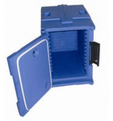 Termo kaste poliet. ēdienu transportēšanai ar durvīm 670*470*670mm