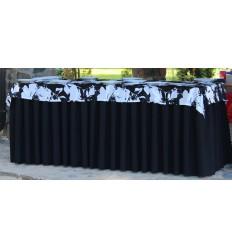 Melnbalts galda celiņs 210*35cm