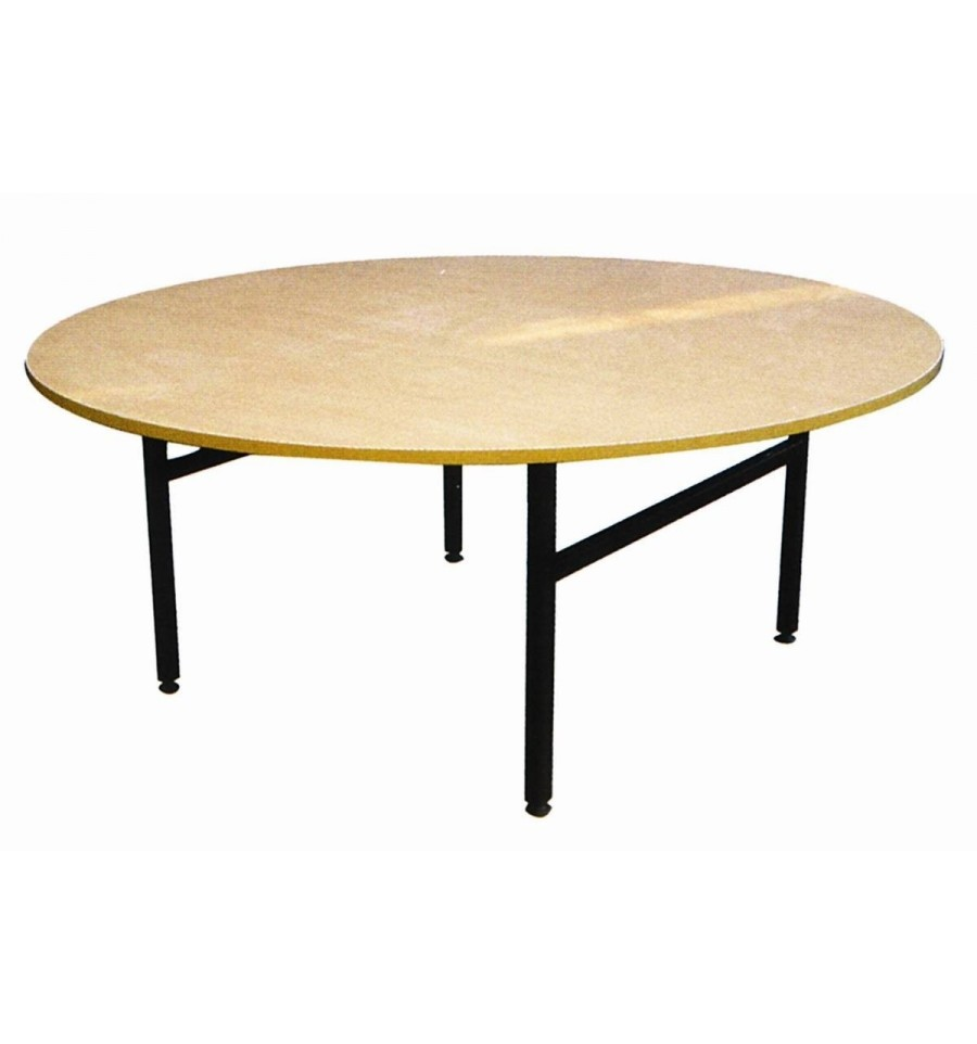 Round folding wooden table d 180cm 10 12 viet m trauku for Table 180 cm